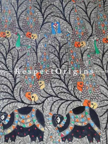 Buy Tree of Life With Colorful Fish - Madhubani Painting- Paper 22X30;RespectOrigins