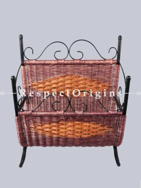 Buy Chic Magazine Holder in Rattan Cane At RespectOrigins.com