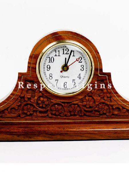 Buy Tambour Style Mantel Fireplace Rosewood Wooden Clock At RespectOrigins.com