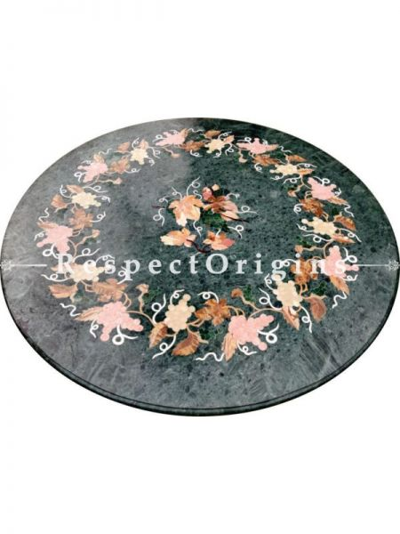 Buy Awesome Green Marble Handcrafted Pietra Dura Coffee Table with inlay Work At RespectOriigns.com