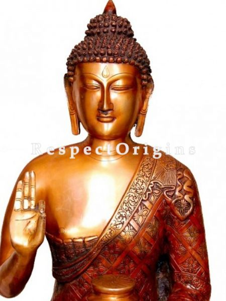 Buy Handcrafted Meditating Statue Of Lord Buddha Brass 28 Inches at RespectOrigins.com