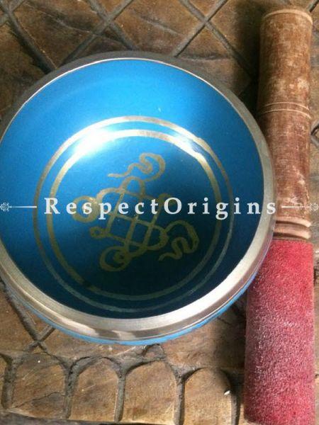 Buy Sky Blue Handmade Vintage Brass Meditation Buddhist Tibetan Singing Bowl; Musical instrument For Meditation; 5 Inches At RespectOrigins.com