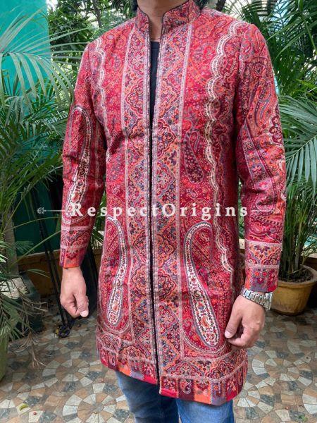 Luxurious Formal Mens Designer Detailing Jamavar Jacket in Wool Blend; Silken Lining; RespectOrigins.com