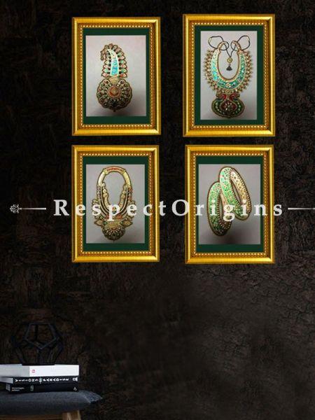 Buy Set of 4 traditional Rajasthani Miniature Wall Art 6X8 inches; Vertical; Traditional Rajasthani Wall Art at RespectOrigins.com