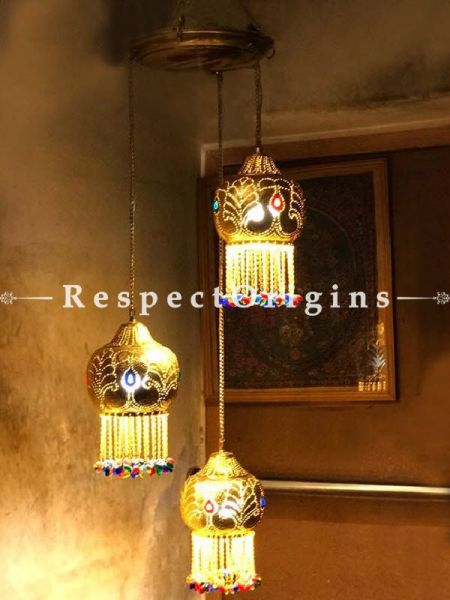Buy Striking Cluster Pendant Featuring  Three Classic Marrakesh Lights at RespectOrigins.com