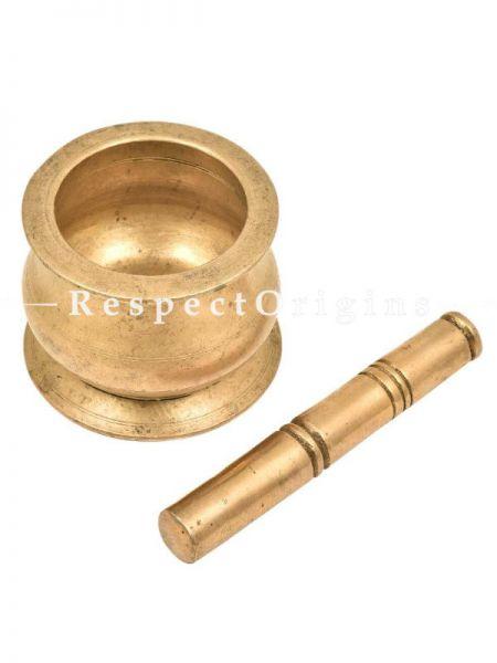 Buy Mortar Pestle Brass, Food Crusher pot shaped At RespectOrigins.com