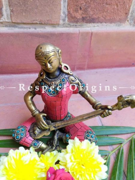 Buy Fabulous Musicians in Brass with Stonework set of 4 At RespectOrigins.com