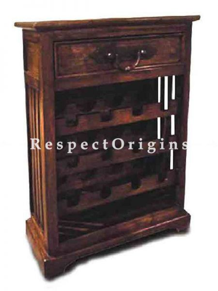 Buy Myra Country Style Wine-rack Wooden Table At RespectOrigins.com