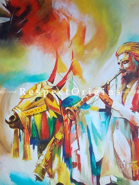 Acrylic On Canvas Painting;Nandi|Buy Acrylic On Canvas Painting;Nandi Online|RespectOrigins