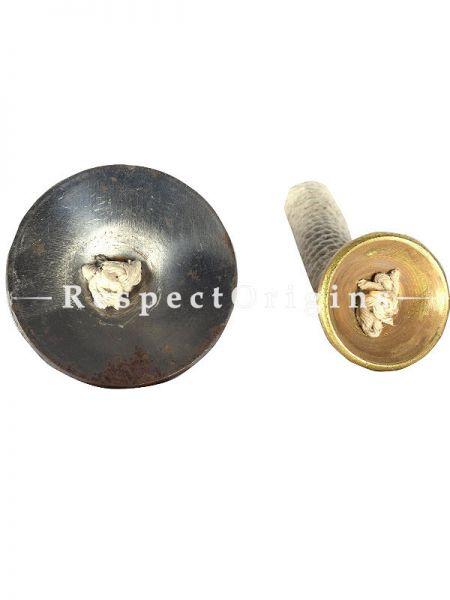 2 Piece Nattuvangam Dance Thalam, Gold and Silver; Indian Musical Instrument; RespectOrigins.com