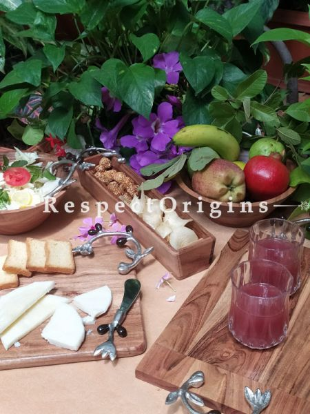Natural Wood Set: Salad Bowls, Fruit Bowl, Charcuterie Cheese Board, Cold Meats Platter, Tapas Tray, Cheese Knife. Boxed Gift Set.; RespectOrigins.com