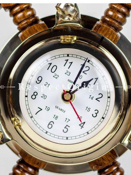Buy Vintage 16 Inches Pirates Nautical Porthole Brass Clock Ship Wheel At RespectOrigins.com