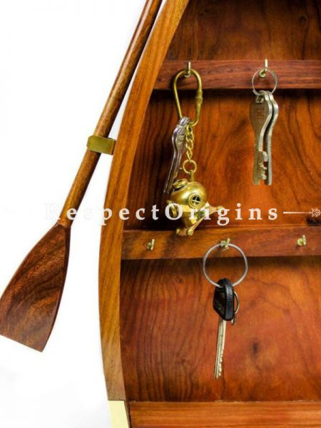 Buy Nautical Handcrafted Boat Key Cabinet with Key Hooks; Maritime Home Decor Products At RespectOrigins.com