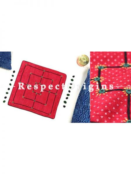 Buy Nine Stones Handmade With Rabari Embroidery On Naturally Dyed Cotton at RespectOrigins.com