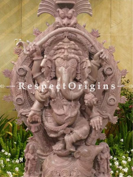 Buy Vinayaka Lord Ganesha Stone Statue; 5 Feet Online at RespectOrigins.com