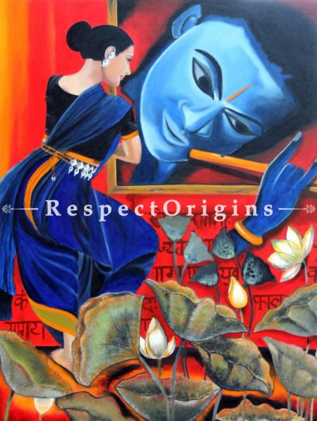 Wall Art|Authentic krishna Indian Painting at RespectOrigins