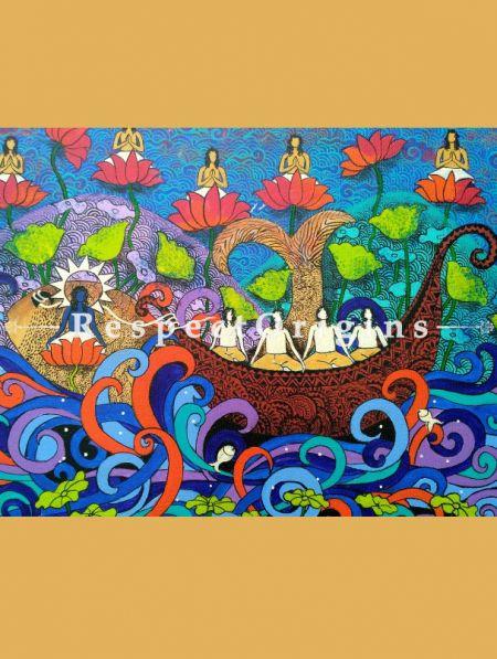 Wall Art|Original Art|Boat of Life Indian Painting|RespectOrigins