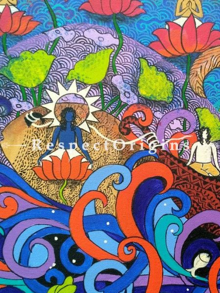 Boat of Life Painting - 18 In x 14In. Acrylic On Canvas by Arti Vohra.