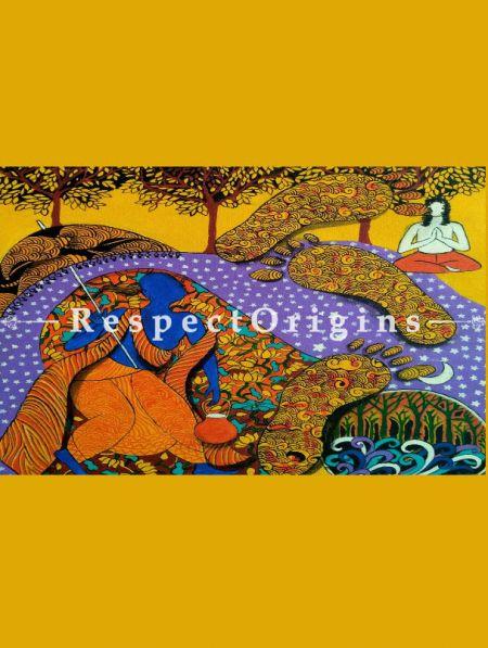 Wall Art|Art Gallery|Three Steps Indian Painting|RespectOrigins