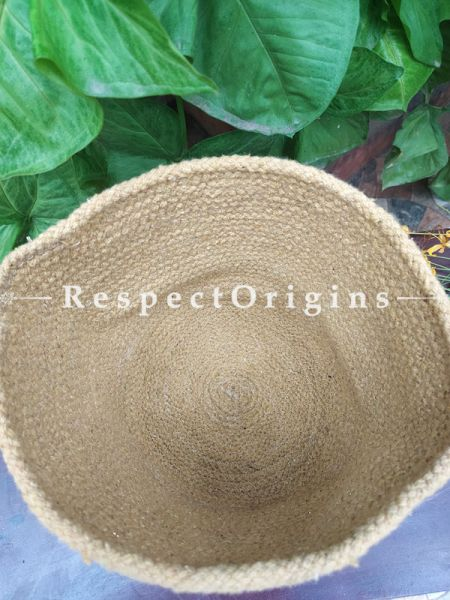 Au Natural Organic Hand-braided Jute Planter, Laundry, Blankets or Toys Basket; 8 Inches; RespectOrigins.com