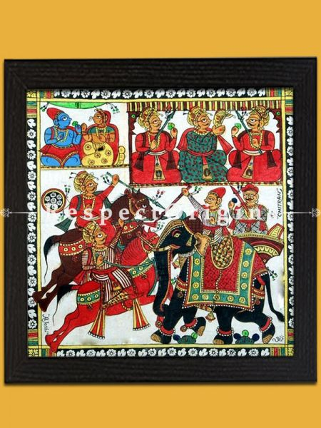 Buy Pabbuji ki Phad Scroll Folk Art of Rajasthan Painting in 12x12;RespectOrigins