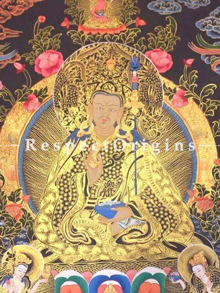 Guru Rimpochhe -Padmasambhava Thangka in 30x20 in On Canvas; Buddhist Traditional Painting Wall Art