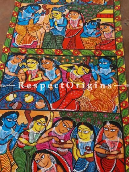 Kalighat Painting; West Bengal;108x22 in