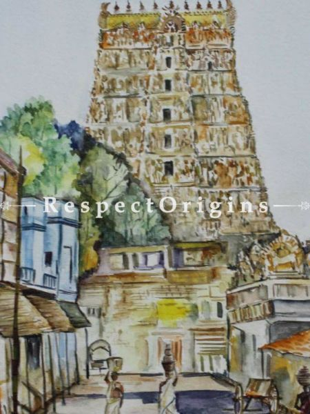 Meenakshi Temple; Water Color On Paper;