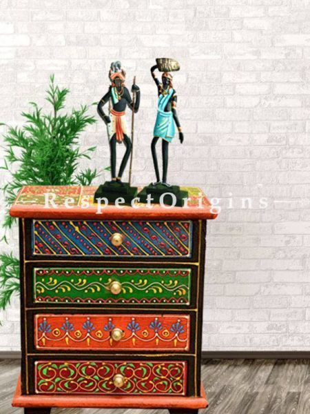 Buy Tribal Couple Figurine in Wrought Iron; 17x4x4 in At RespectOrigins.com