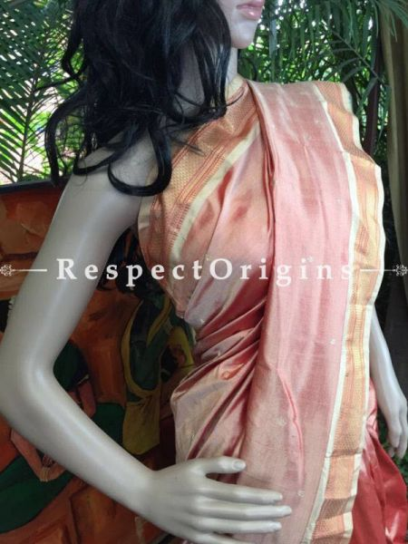 Buy Paithani Pink Silk Saree at RespectOrigins.com