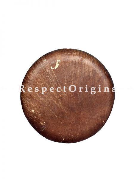 Buffalo Skin Parai 15 inch, Light Sandal with Black; Indian Musical Instrument; RespectOrigins.com