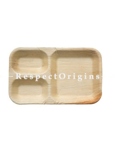 Buy Pack of 25 Arecana Eco Friendly Snacks Plates With 3 Compartment