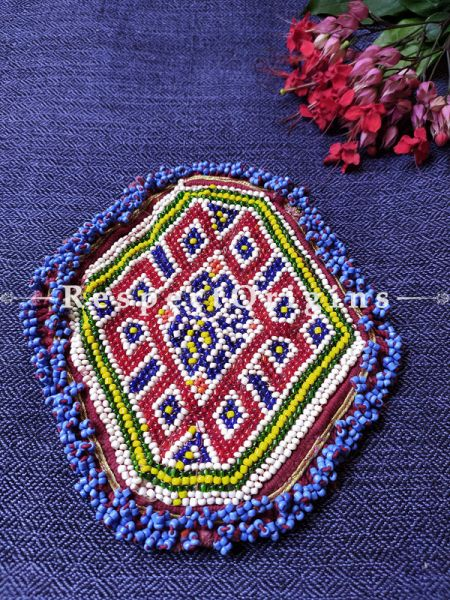Ethnic Tribal Hand-embroidered Cushion or Dress Patches; 6X6 Inches; RespectOrigins.com