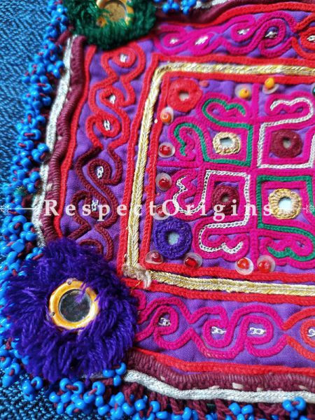 Ethnic Tribal Hand-embroidered Cushion or Dress Patches; 5X5 Inches; RespectOrigins.com