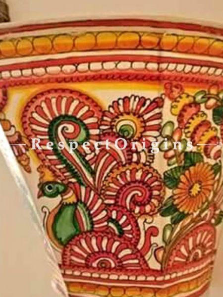 Buy Peacock Hand Painted Wall Lampshade; Leather; 5 in At RespectOrigins.com