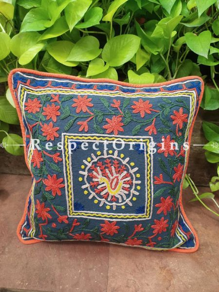 Buy Brilliant Mix n Match Suzani Embroidery Rich Cotton Throw Cushions Set of 5 17x17 Inches at RespectOrigins.com