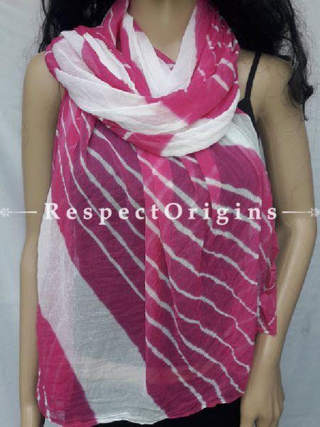 Pink_Chiffon_Bandhani_Dupatta_With_Leheriya_Work_RespectOrigins_com