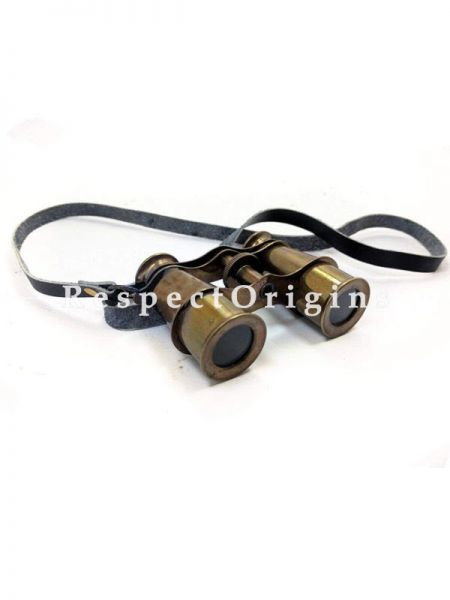 Buy 4 Inches Solid Antique Brass Opera Glasses; Premium Nautical Rustic Binocular with Leather Strap At RespectOrigins.com