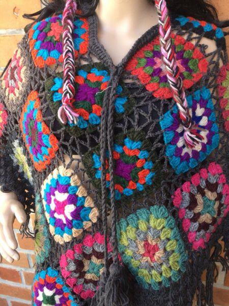 Hand Knitted Woolen Crochet Ponchos.RespectOrigins