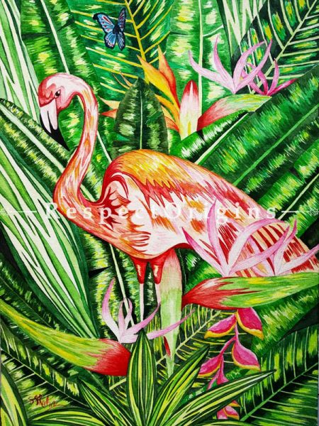 Vertical Art Painting of Rainforest Beauty;Water Colors on Paper; 11in X 15in at RespectOrigins.com
