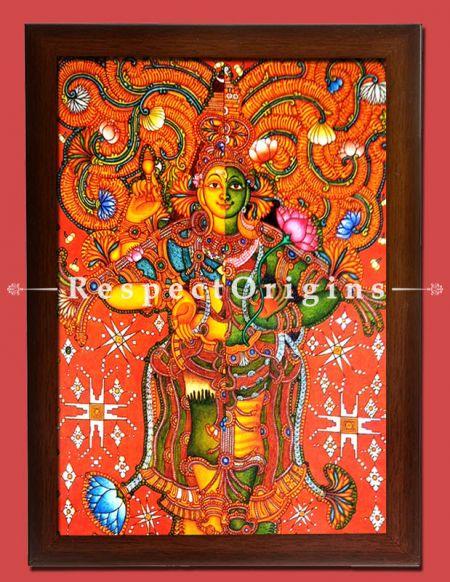 Ardhanarishvara; Kerala Wall Mural Art; 36x30 in Canvas Vertical Painting