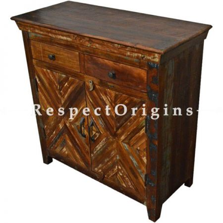 Buy Reclaimed Rustic Free Standing Consol Storage Cabinets With Drawers At RespectOrigins.com