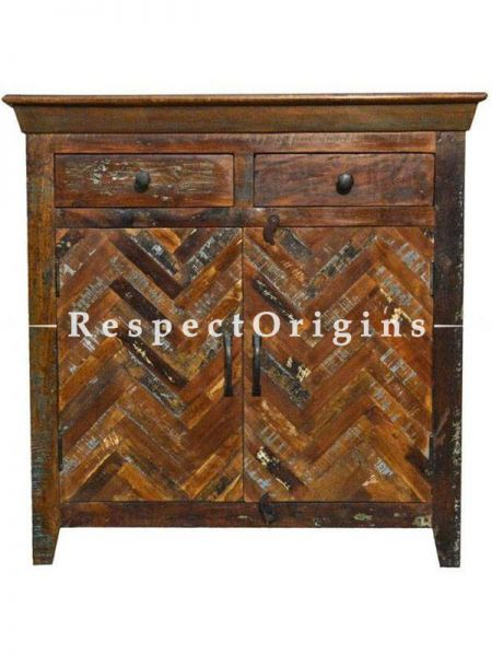 Buy Reclaimed Wooden Sideboard Free Standing Cabinets With Drawers At RespectOrigins.com