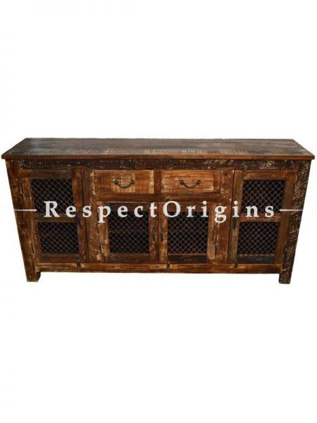 Buy Reclaimed Wooden Sideboard Buffet Table With Iron Grill At RespectOrigins.com