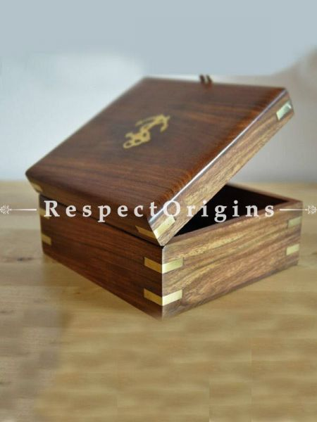 Wooden Chest or Box with Pirate's Anchor; RespectOrigins