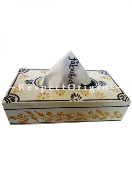 Buy Rectangular Wooden Hand Painted Tissue Holder or Napkin Holder