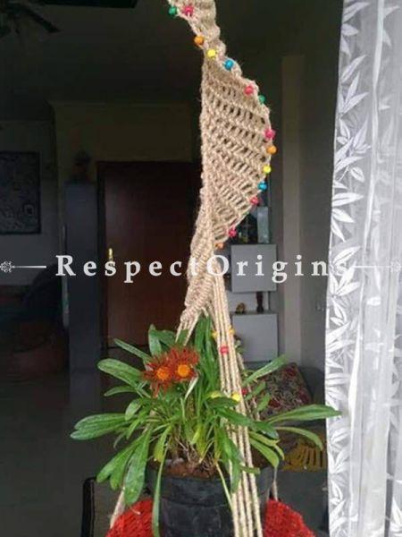 Buy Hanging Planter with Red Pot, Macrame At RespectOrigins.com
