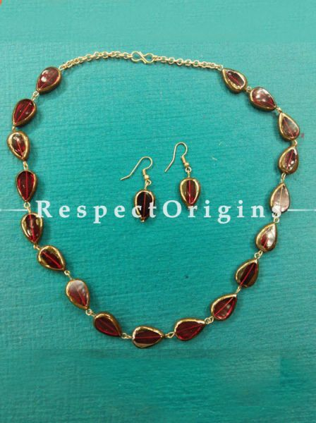Amazing Burgundy Topaz Stone Jewellery Set, RespectOrigins.com