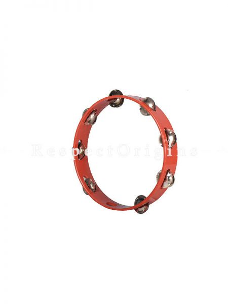 10 inch Tambourine Without Head; Red; Indian Musical Instrument; RespectOrigins.com