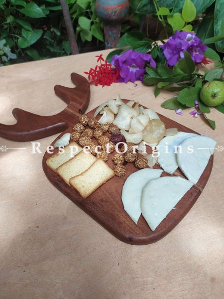 Moose Shaped Holiday Charcuterie Board; 16x10 Inches; RespectOrigins.com